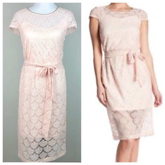 a7d60b724e5 NWT Jessica Simpson Pink Lace Chain Neck Dress